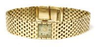Lot 4-A 9ct gold ladies Swiss mechanical bracelet watch