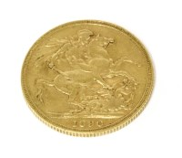 Lot 41-An 1890 gold sovereign