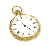 Lot 50-A Continental gold open face fob watch
