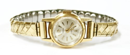 Lot 13-A ladies gold Tressa mechanical watch