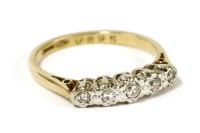 Lot 31-A gold five stone graduated diamond ring