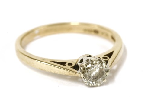 Lot 9-A 9ct gold single stone diamond ring