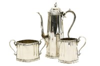 Lot 92A - A Tiffany three piece silver coffee set
