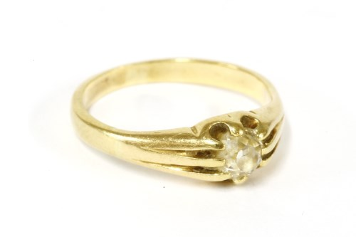 Lot 21-A gold single stone old European cut diamond ring
