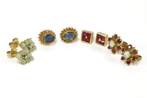 Lot 43 - Four pairs of assorted earrings