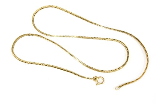 Lot 50-A 9ct gold foxtail chain
