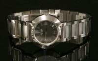 Lot 15 - A ladies' stainless steel Hermès Nomade Quartz bracelet watch