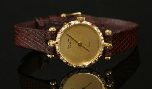 Lot 10-A ladies' 18ct gold Van Cleef & Arpel Quartz Paris watch