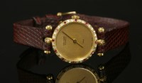 Lot 10-A ladies' 18ct gold Van Cleef & Arpel Quartz Paris watch