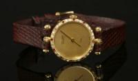 Lot 10 - A ladies' 18ct gold Van Cleef & Arpel Quartz Paris watch