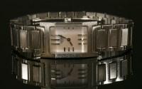 Lot 14 - A ladies' stainless steel Hermes Tandem Quartz bracelet watch
