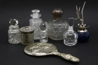 Lot 99-A silver topped cut glass scent bottle