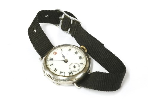 Lot 41 - A ladies silver cased wristwatch