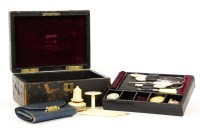Lot 75-A 19th century sewing box