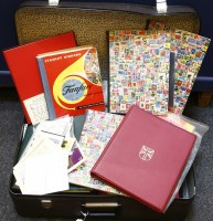 Lot 112 - A large suitcase with a large quantity of stamps