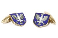Lot 40-A pair of 9ct gold cufflinks