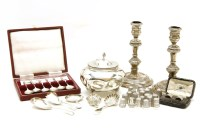 Lot 86-A collection of silver items