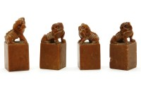 Lot 116A - Four Chinese soapstone seals