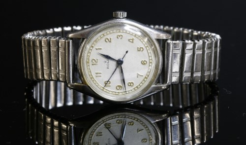 Lot 4-A gentlemen's stainless steel Rolex mechanical watch