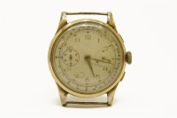 Lot 2 - A gentlemen's 18ct gold Chronograph watch