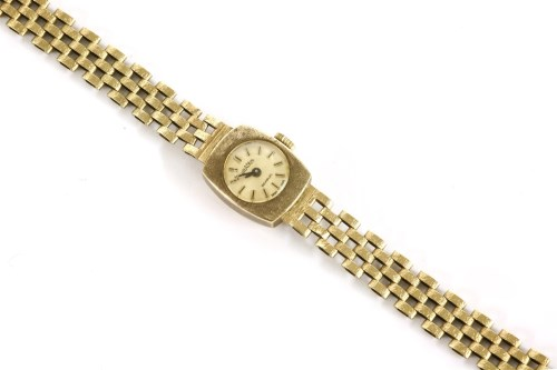 Lot 32-A ladies 9ct gold Gradus mechanical bracelet watch