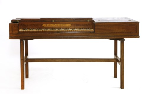 531 - An inlaid mahogany square piano