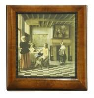 Lot 273-A walnut and ebonised cabinet