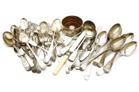 Lot 117 - Eight various George III and later silver table spoons