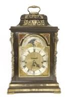 446 - An ebonised bracket clock by Joseph Smith