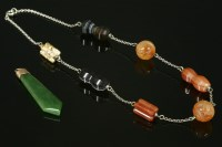 Lot 11A-A Scottish hardstone or pebble specimen necklace