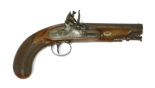 204 - A flintlock pocket pistol