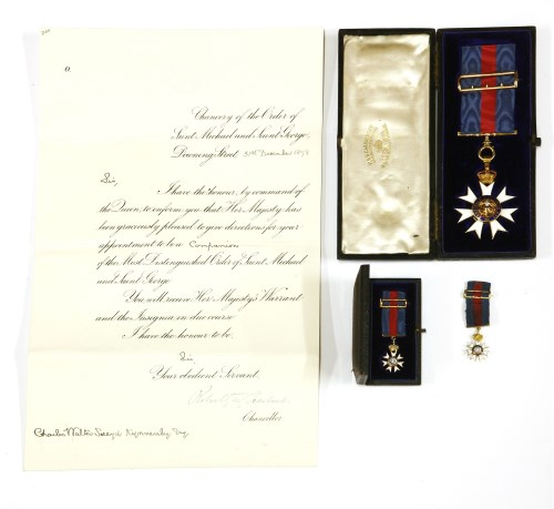 Lot 213-A CMG medal