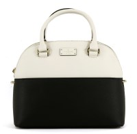 Lot 1021-A Kate Spade black and white Grove Street 'Carli' handbag