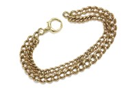 Lot 13-A 9ct gold curb link bracelet