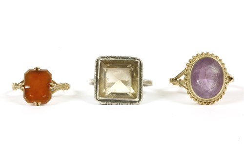 Lot 2-Three assorted rings