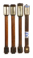 450 - A George III mahogany stick barometer