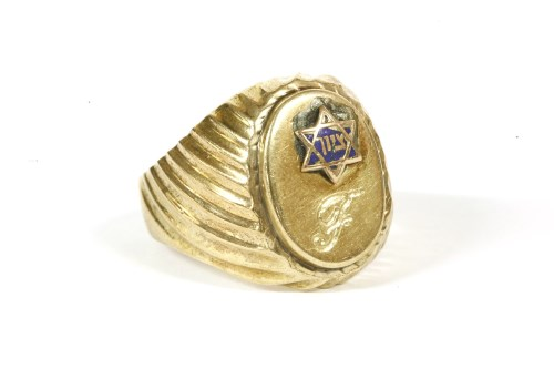 Lot 14-A gold gentlemen's signet ring