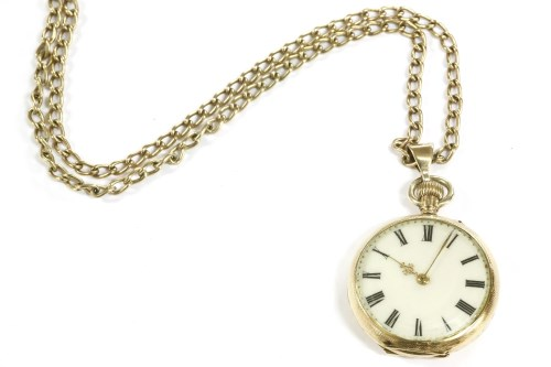 Lot 22-A Continental gold enamel fob watch