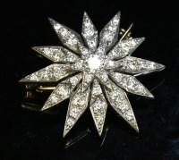 Lot 90 - A Victorian-style diamond set India Star brooch/pendant