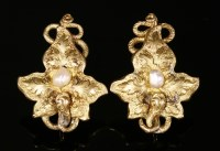 Lot 24-A pair of Continental gold