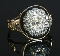 Lot 8-A Georgian diamond and enamel memorial ring