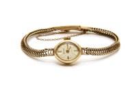 Lot 27-A ladies 9ct gold Accurist mechanical bracelet watch