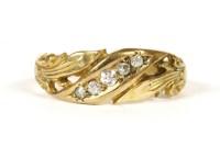 Lot 13-An 18ct gold five stone diamond ring