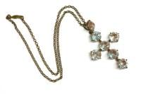 Lot 22-A saphiret glass paste stone cross