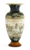 Lot 41-A Royal Doulton stoneware vase