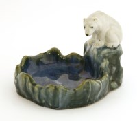 Lot 44-A Doulton Lambeth stoneware soap dish