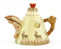 Lot 256-A Clarice Cliff novelty 'Teepee' teapot
