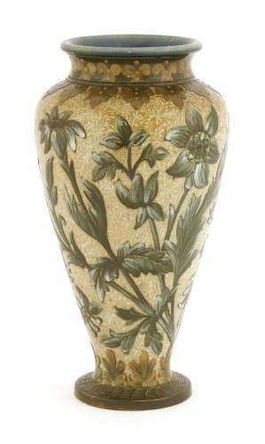 Lot 39-A Doulton Lambeth stoneware vase