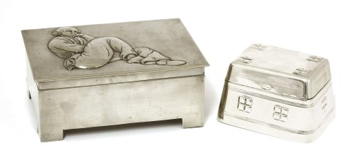 Lot 13-A Secessionist plated box