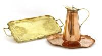 Lot 55-W A S Benson copper-lined jug